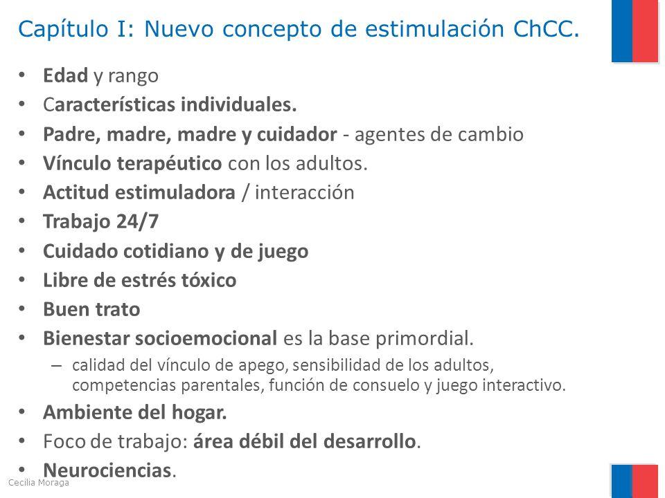 Capítulo I: Nuevo concepto de estimulación ChCC. Edad y rango Características individuales. Padre, madre, madre y cuidador - agentes de cambio Vínculo