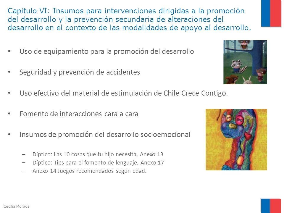 Capítulo VI: Insumos para intervenciones dirigidas a la promoción del desarrollo y la prevención secundaria de alteraciones del desarrollo en el conte