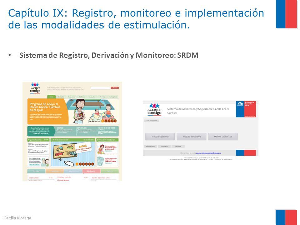 Capítulo IX: Registro, monitoreo e implementación de las modalidades de estimulación. Sistema de Registro, Derivación y Monitoreo: SRDM Cecilia Moraga