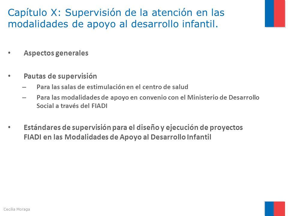 Capítulo X: Supervisión de la atención en las modalidades de apoyo al desarrollo infantil. Aspectos generales Pautas de supervisión – Para las salas d