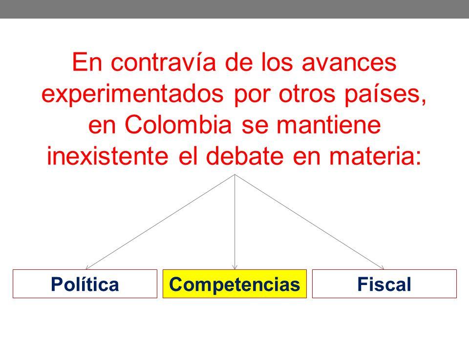 En contravía de los avances experimentados por otros países, en Colombia se mantiene inexistente el debate en materia: PolíticaCompetenciasFiscal