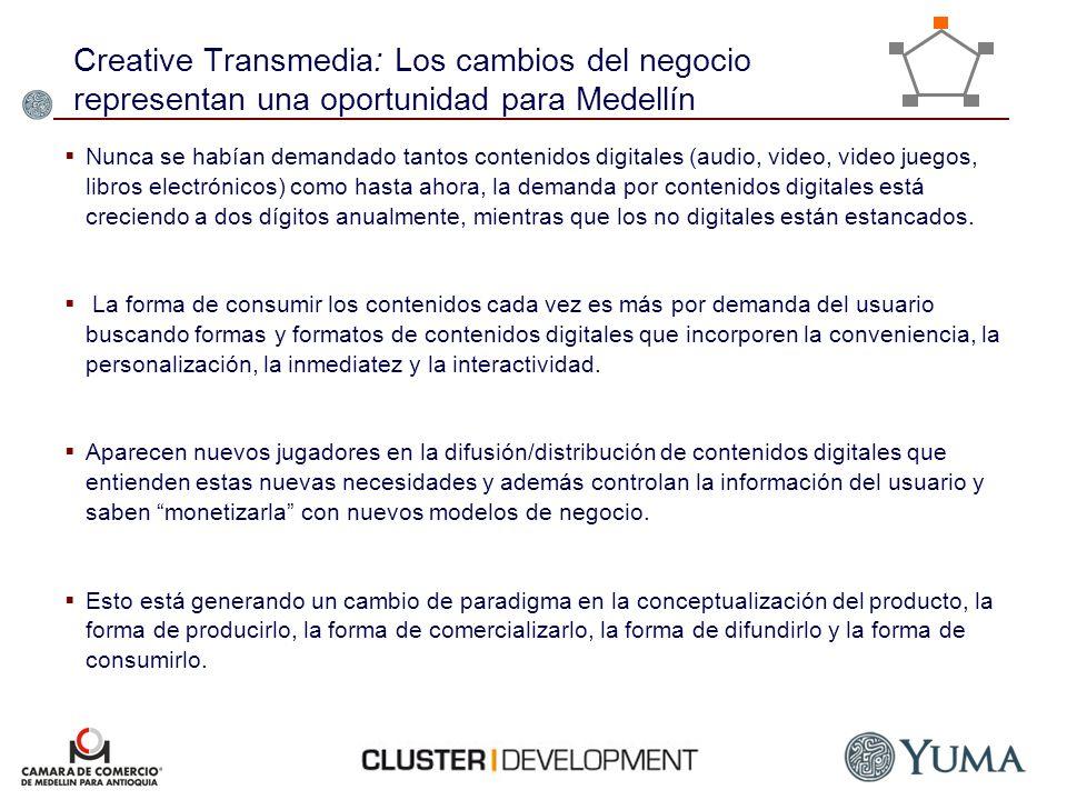 Creative Transmedia: Los cambios del negocio representan una oportunidad para Medellín Nunca se habían demandado tantos contenidos digitales (audio, v