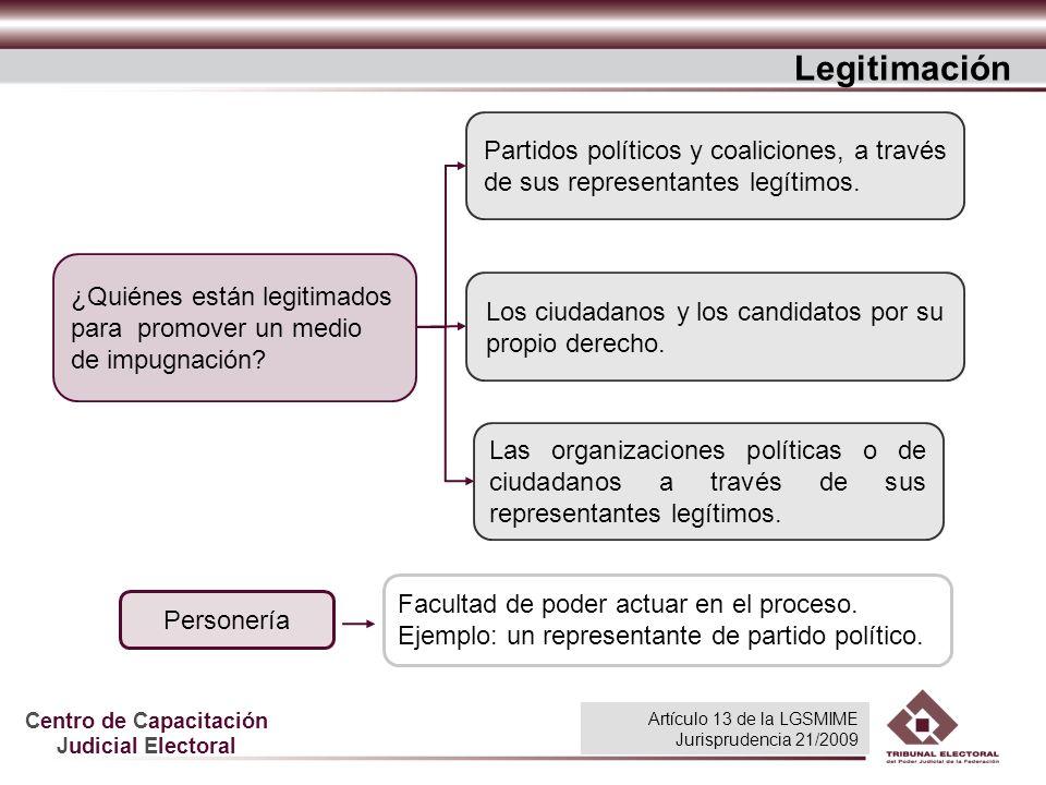 Centro de Capacitación Judicial Electoral Los ciudadanos y los candidatos por su propio derecho. Partidos políticos y coaliciones, a través de sus rep
