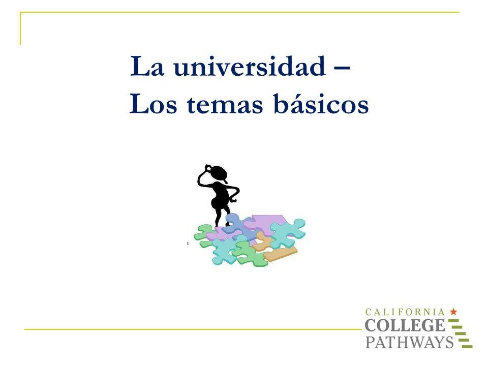 La universidad – Los temas básicos