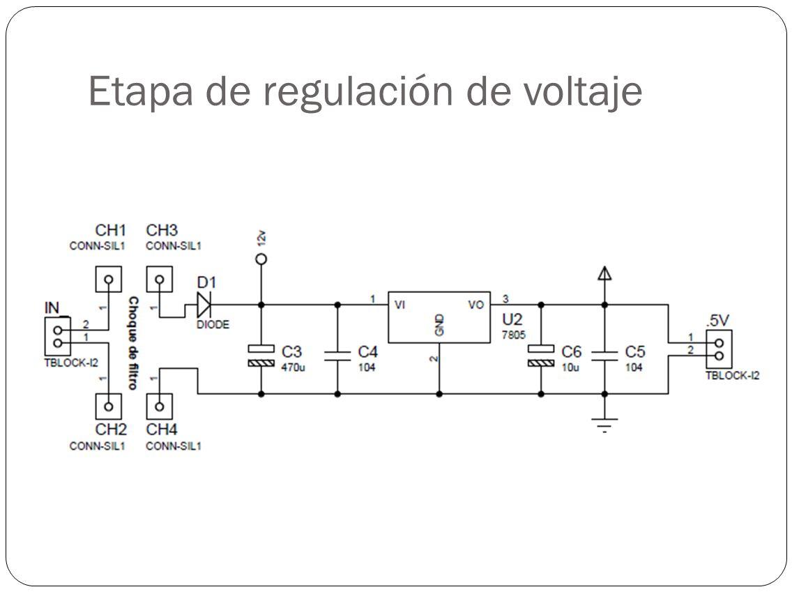 Etapa de regulación de voltaje