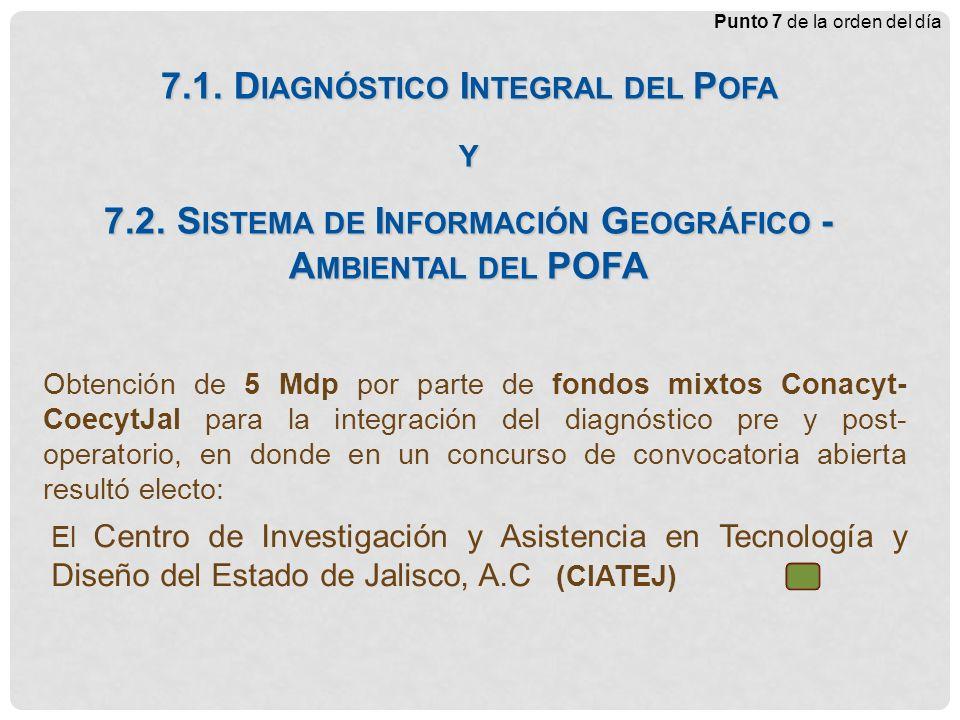 Órgano Técnico Mixto (P OFA El Ahogado) Obtención de 5 Mdp por parte de fondos mixtos Conacyt- CoecytJal para la integración del diagnóstico pre y post- operatorio, en donde en un concurso de convocatoria abierta resultó electo: 7.1.