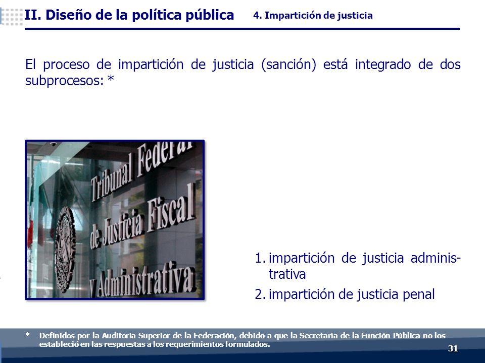 3131 ) 1.impartición de justicia adminis- trativa 2.impartición de justicia penal II.