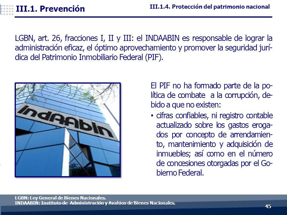 4545 LGBN: Ley General de Bienes Nacionales.