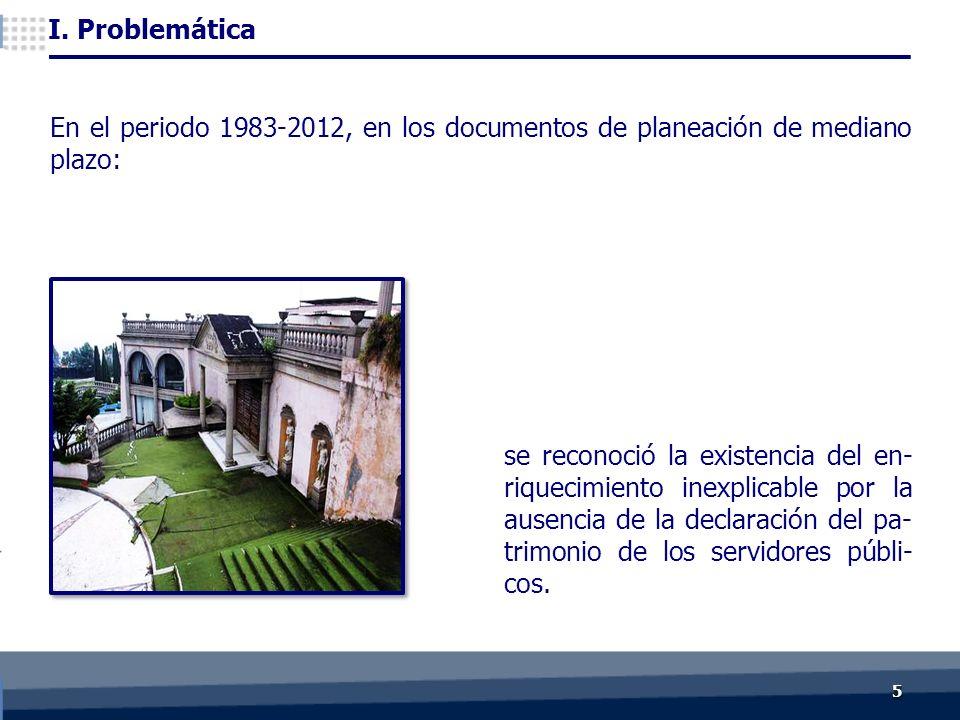 55 se reconoció la existencia del en- riquecimiento inexplicable por la ausencia de la declaración del pa- trimonio de los servidores públi- cos.