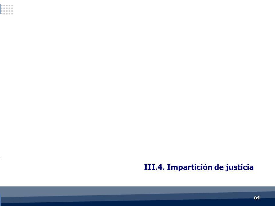 III.4. Impartición de justicia 6464