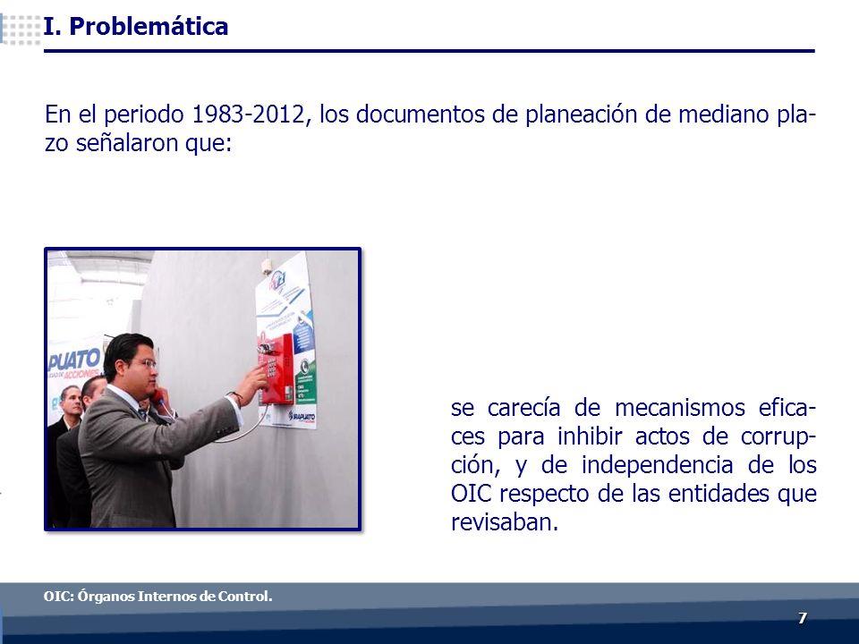 77 I. Problemática OIC: Órganos Internos de Control.