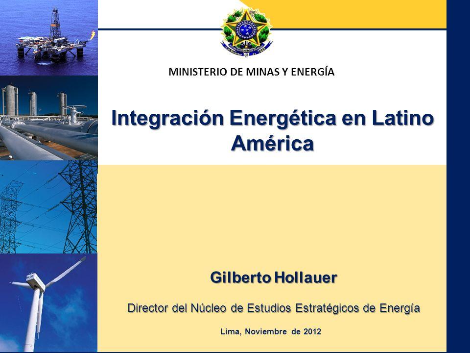 Ministerio de Minas y Energía Secretaria de Planificación y Desarrollo Energético MINISTERIO DE MINAS Y ENERGÍA Gilberto Hollauer Director del Núcleo