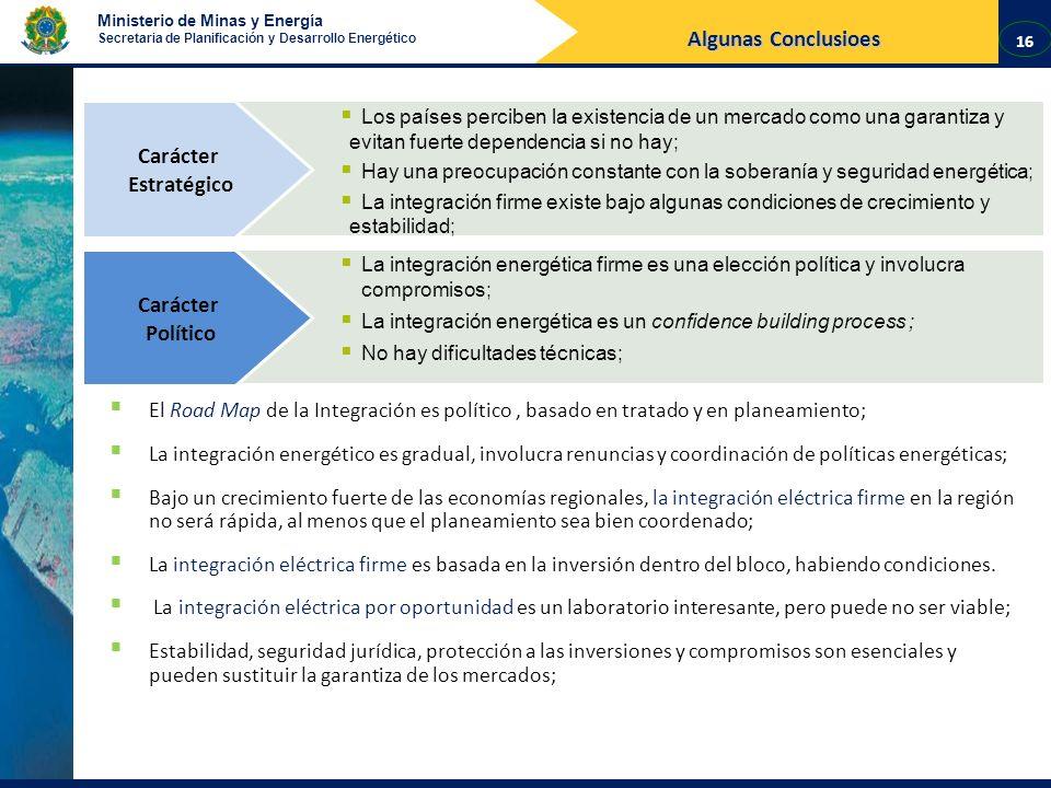 Ministerio de Minas y Energía Secretaria de Planificación y Desarrollo Energético Los países perciben la existencia de un mercado como una garantiza y