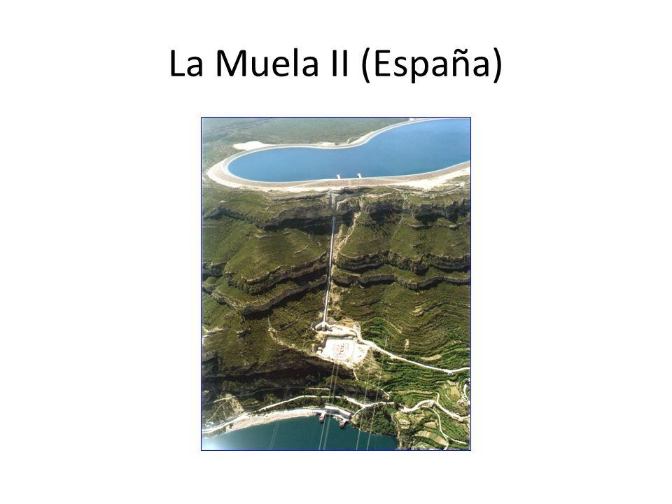 Operador: Iberdrola 500 M US$ 852 MW turbinado, 744 MW bombeo Fechas Construcción 2006-2012 Muela ampliada son 1400 MW y «generan» 800 GWh por año La Muela II (España) Otra referencia de precio: 1000 US$/kW instalado