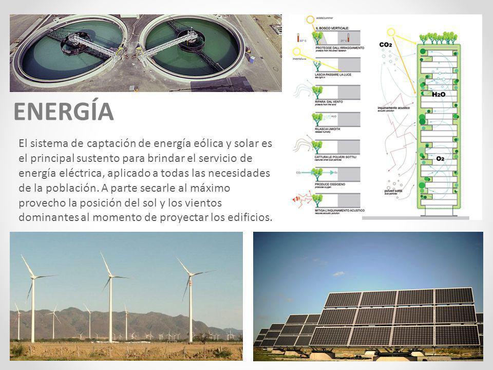 ENERGÍA El sistema de captación de energía eólica y solar es el principal sustento para brindar el servicio de energía eléctrica, aplicado a todas las