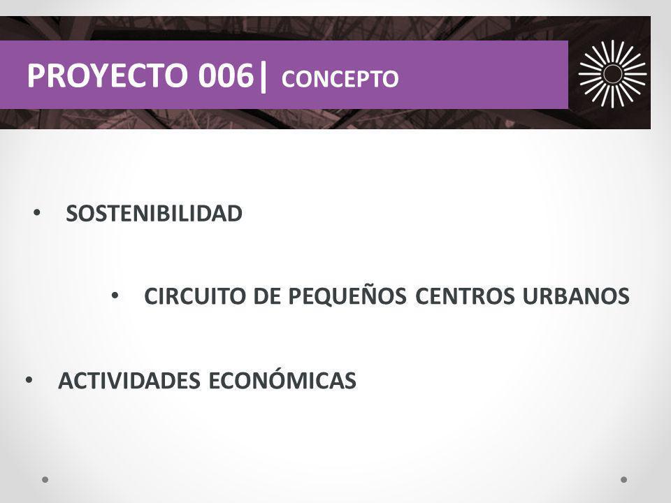 SOSTENIBILIDAD PROYECTO 006| CONCEPTO CIRCUITO DE PEQUEÑOS CENTROS URBANOS ACTIVIDADES ECONÓMICAS