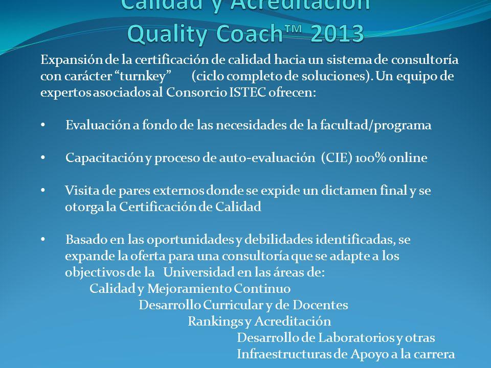 Expansión de la certificación de calidad hacia un sistema de consultoría con carácter turnkey (ciclo completo de soluciones).
