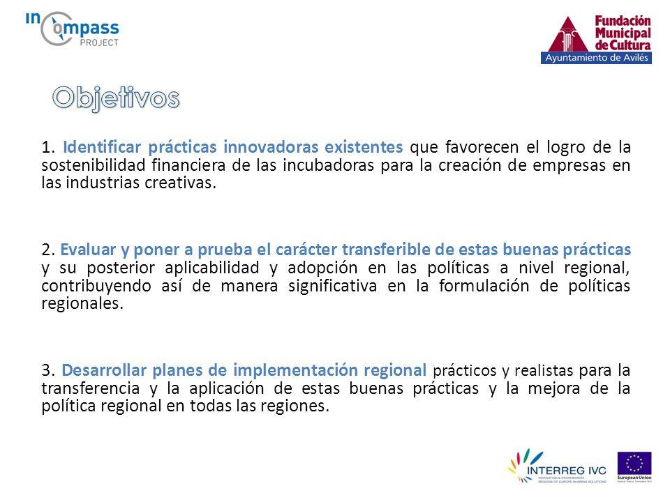 El proyecto InCompass incluye: - Un programa de Visitas de estudio para la identificación de buenas prácticas.