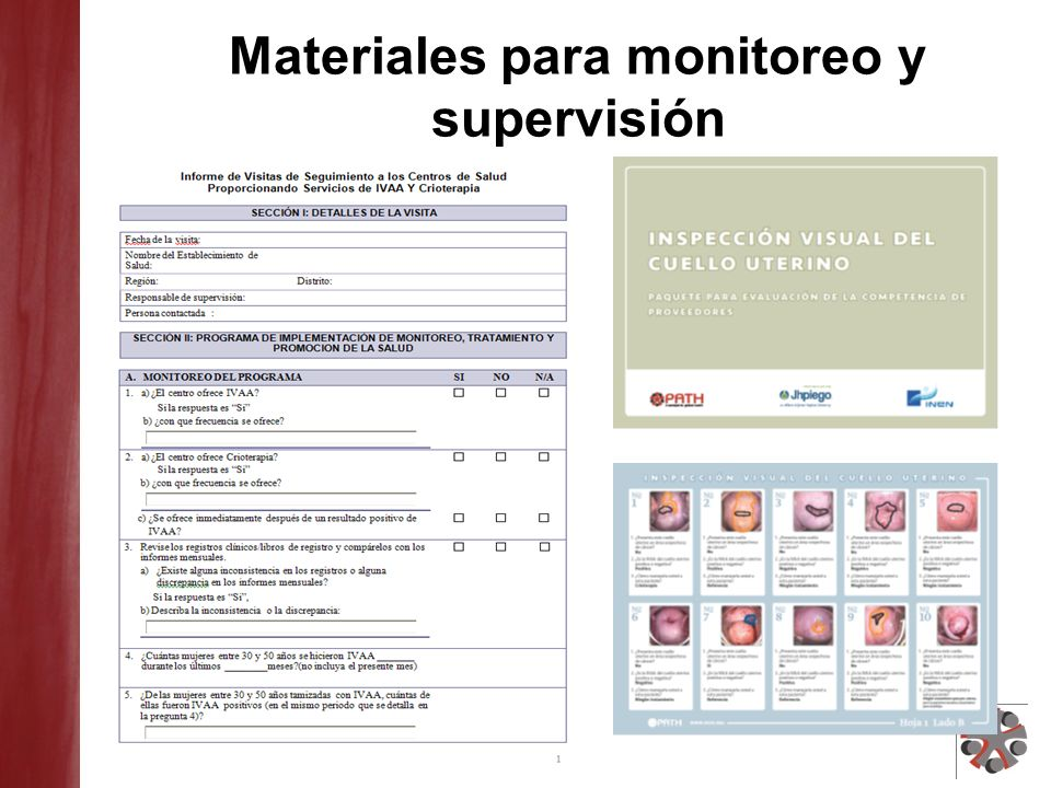 Materiales para monitoreo y supervisión