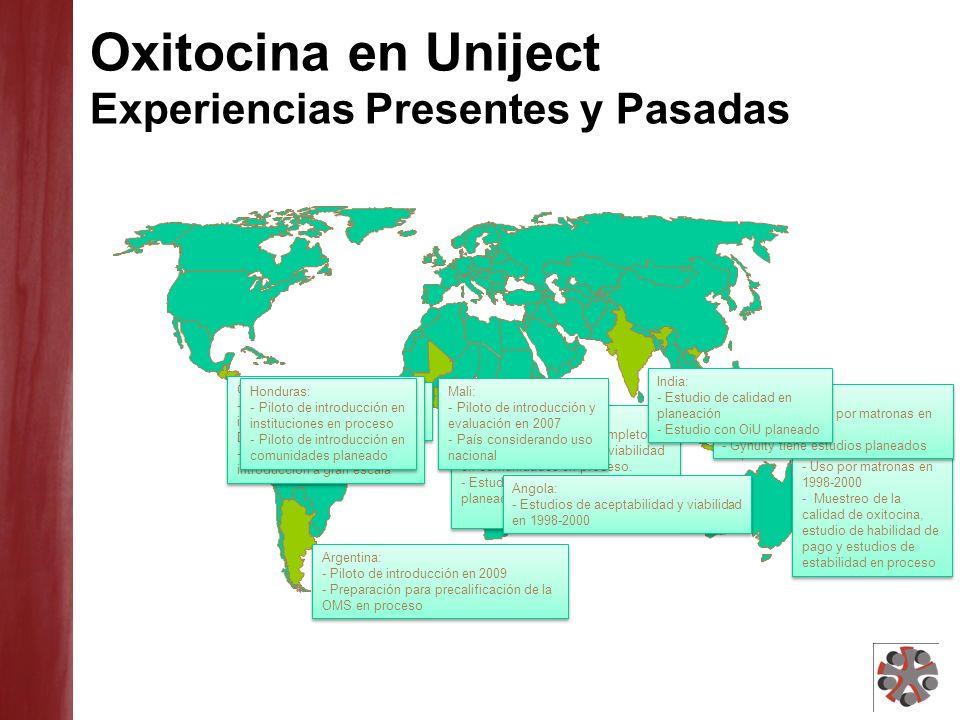 Actividades en Desarrollo en Latino- America Guatemala: Piloto de introducción en instituciones completado en Dic.