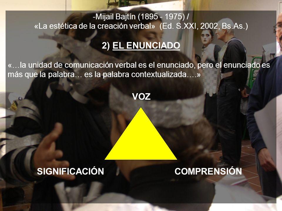 -Mijail Bajtín (1895 - 1975) / «La estética de la creación verbal» (Ed.