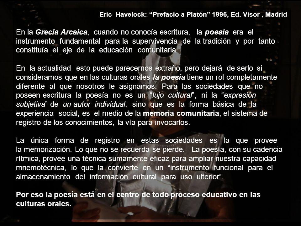 Eric Havelock: Prefacio a Platón 1996, Ed.