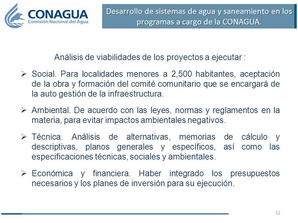 Análisis de viabilidades de los proyectos a ejecutar : Social.
