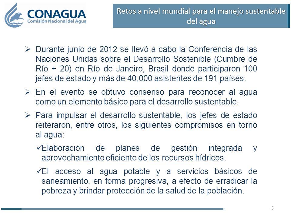 Durante junio de 2012 se llevó a cabo la Conferencia de las Naciones Unidas sobre el Desarrollo Sostenible (Cumbre de Río + 20) en Río de Janeiro, Brasil donde participaron 100 jefes de estado y más de 40,000 asistentes de 191 países.