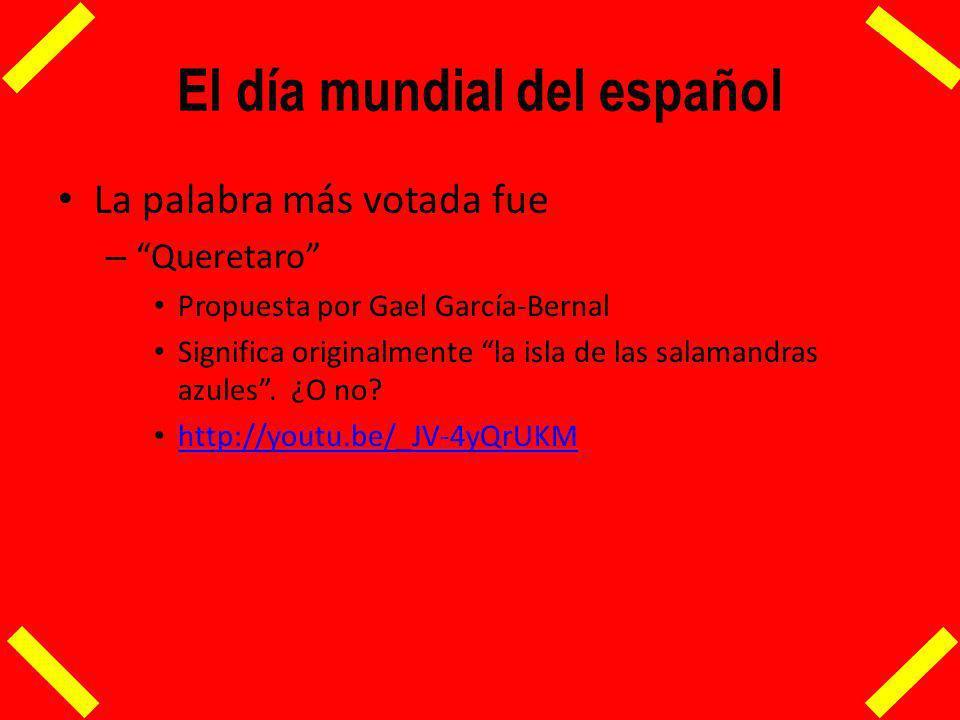 El español en el mundo Hoy hay sistemas internacionales de promoción del español – El Instituto Cervantes – AECI Casi todos promovidos por el Estado Español – Sin embargo de cada 4 hispanohablantes 1 es mexicano.