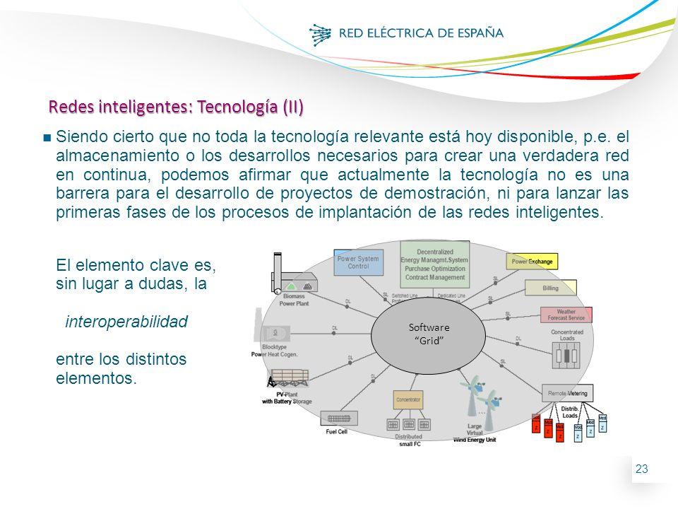 23 Power Grid Communication Grid Software Grid Redes inteligentes: Tecnología (II) n Siendo cierto que no toda la tecnología relevante está hoy dispon