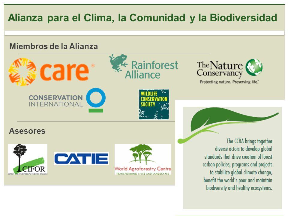 Alianza para el Clima, la Comunidad y la Biodiversidad Miembros de la Alianza Asesores