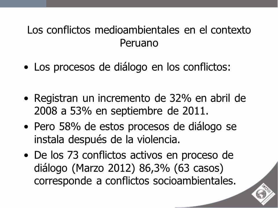 Los conflictos medioambientales en el contexto Peruano