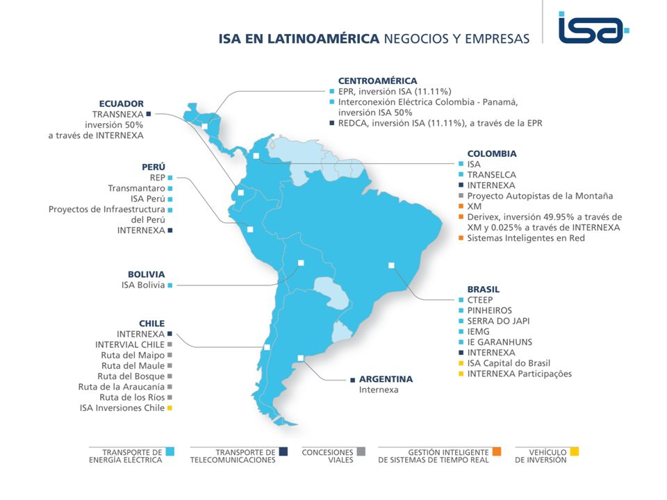 TRANSELCA ©Todos los derechos reservados por Interconexión Eléctrica S.A. E.S.P. Introducción ISA en Latinoamérica - Negocios y empresas