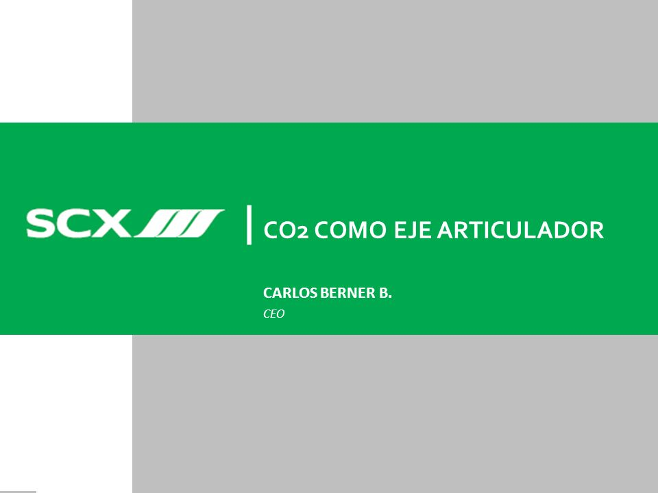 CO2 COMO EJE ARTICULADOR CARLOS BERNER B. CEO
