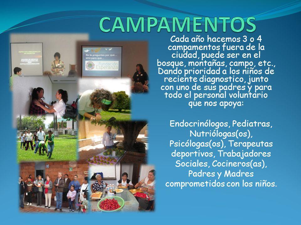 Los campamentos son muy importantes ya que en ellos ofrecemos Capacitación integral a las familias…