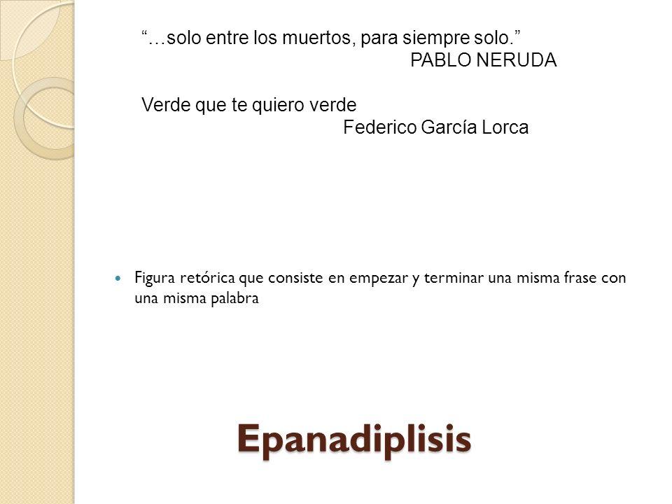 Conduplicación (anadiplosis) (Repetición en serie de palabras que terminan en un verso y comienzan en el próximo.