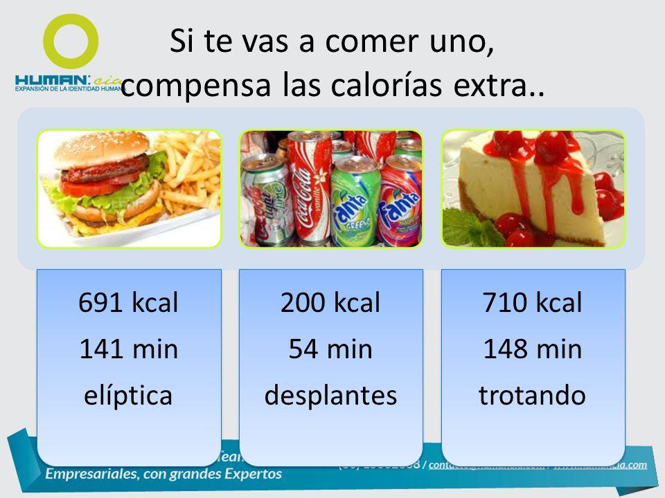 Si te vas a comer uno, compensa las calorías extra..
