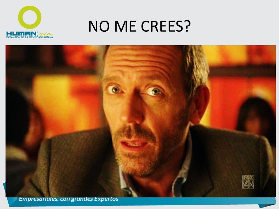 NO ME CREES?