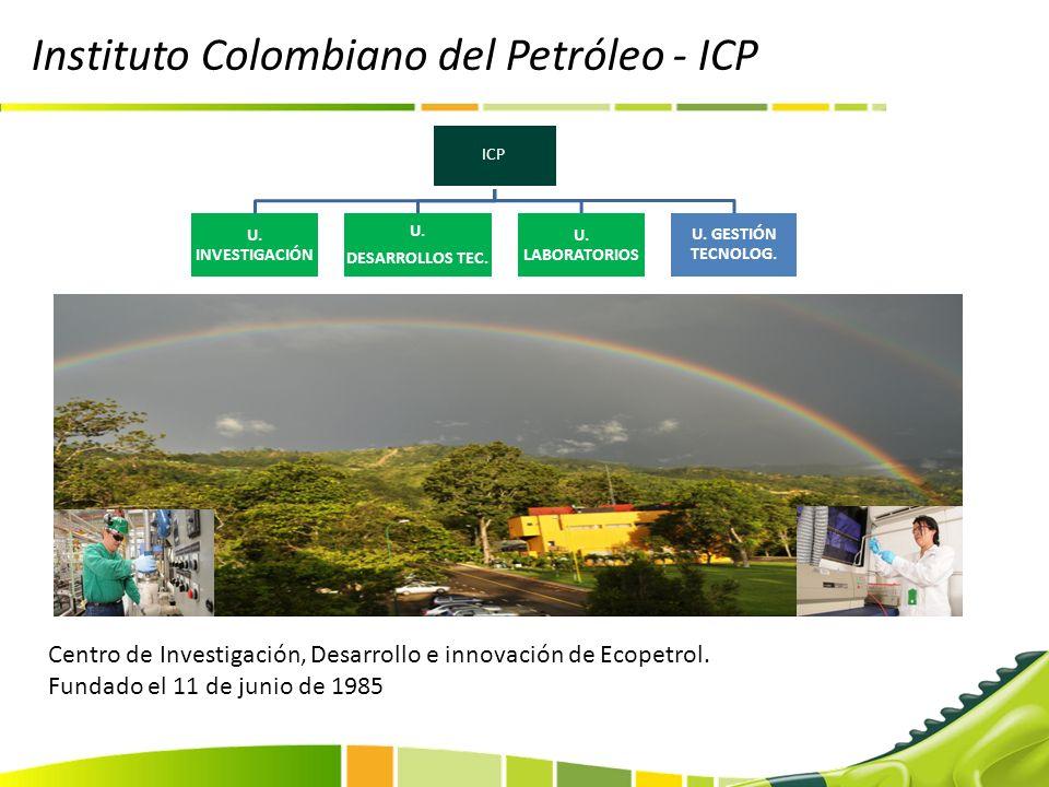 Instituto Colombiano del Petróleo - ICP Centro de Investigación, Desarrollo e innovación de Ecopetrol. Fundado el 11 de junio de 1985 ICP U. INVESTIGA