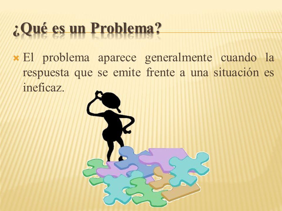 El problema aparece generalmente cuando la respuesta que se emite frente a una situación es ineficaz.