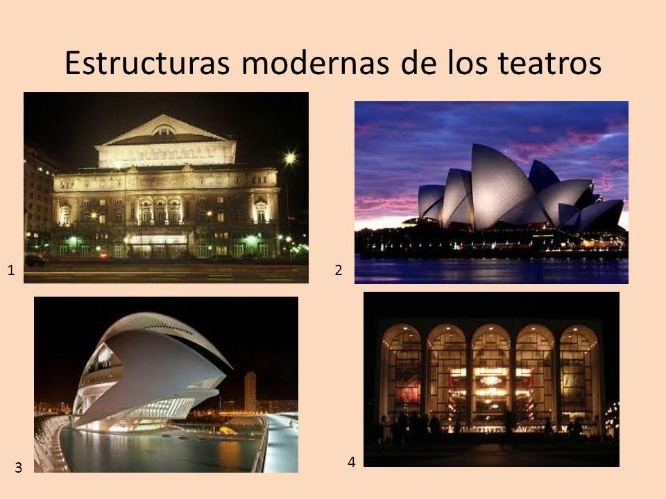 Estructuras modernas de los teatros 2 1 3 4
