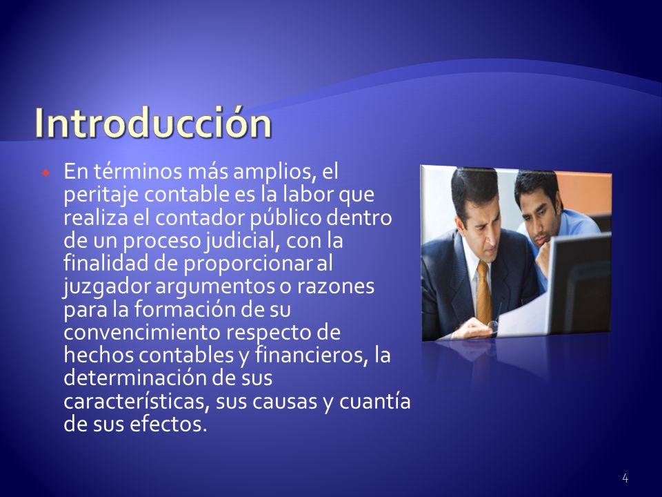 En términos más amplios, el peritaje contable es la labor que realiza el contador público dentro de un proceso judicial, con la finalidad de proporcio