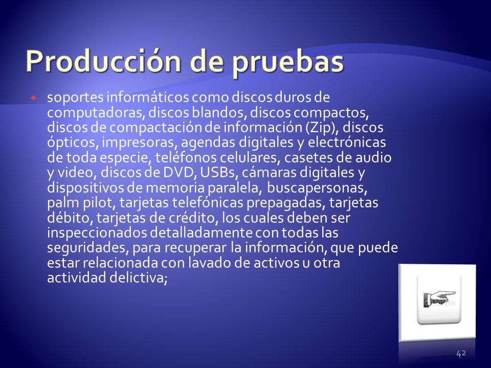 soportes informáticos como discos duros de computadoras, discos blandos, discos compactos, discos de compactación de información (Zip), discos ópticos