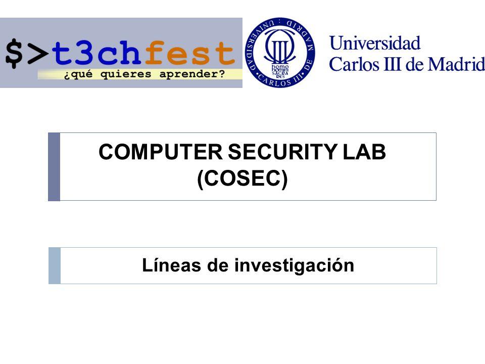 COSEC www.seg.inf.uc3m.es LÍNEAS DE INVESTIGACIÓN Protección ante Amenazas Internas