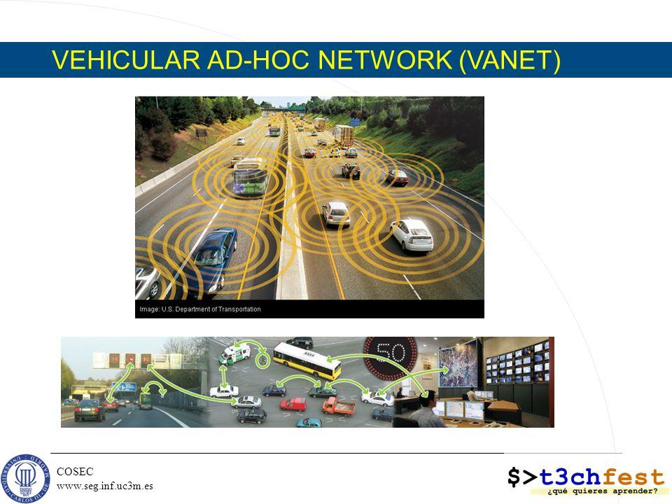 COSEC www.seg.inf.uc3m.es VEHICULAR AD-HOC NETWORK (VANET)