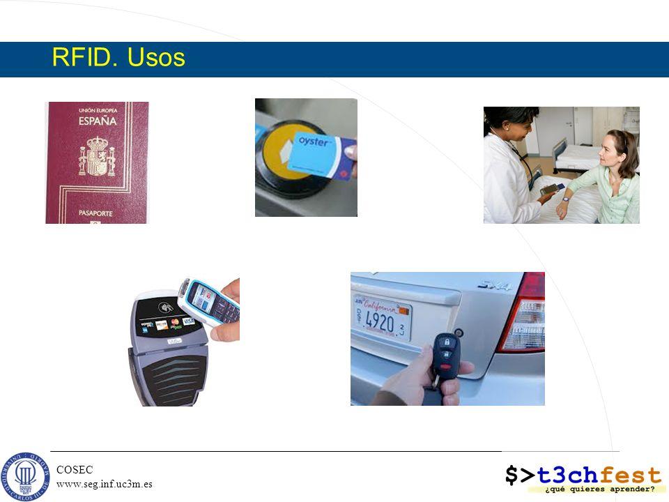 COSEC www.seg.inf.uc3m.es RFID. Amenazas