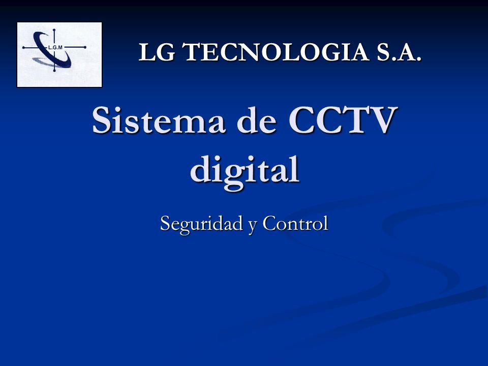 Sistema de CCTV digital Seguridad y Control LG TECNOLOGIA S.A.