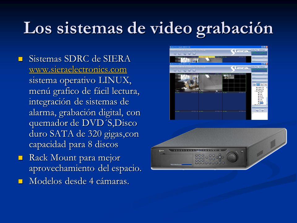 Los sistemas de video grabación Sistemas SDRC de SIERA www.sieraelectronics.com sistema operativo LINUX, menú grafico de fácil lectura, integración de
