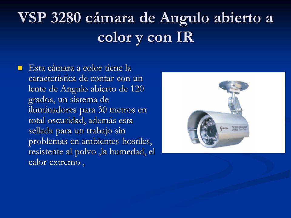 VSP 3280 cámara de Angulo abierto a color y con IR Esta cámara a color tiene la característica de contar con un lente de Angulo abierto de 120 grados,