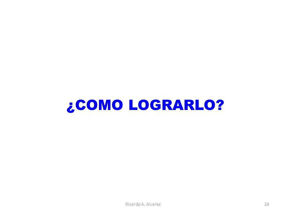 ¿COMO LOGRARLO Ricardo A. Alvarez24